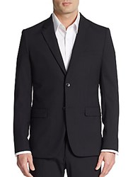 Theory Regular Fit Xylo Np Stretch Wool Sportcoat Heather Grey