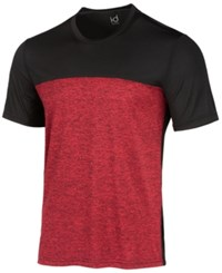 Ideology Id Men's Colorblocked T Shirt Candy Apple
