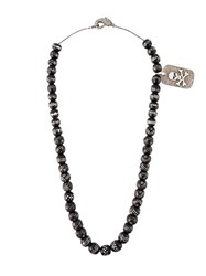 Loree Rodkin Beaded Diamond Charm Necklace Black
