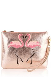 Oasis Kissing Flamingo Clutch Pink