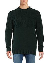 Roamers And Seekers Raven Cable Knit Sweater Alpine Green