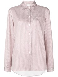 Marco De Vincenzo Striped Shirt Metallic