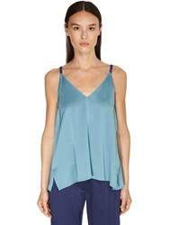 Forte Forte Envers Satin Crepe Camisole Top Blue