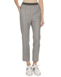 Agnona Stretch Wool Trousers Gray
