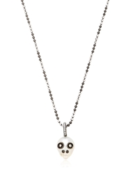 Samira 13 Australian Pearl Skull Necklace Black