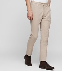 Reiss Babette Brushed Twill Trousers In Stone