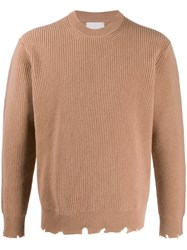 Laneus Distressed Knitted Jumper 60