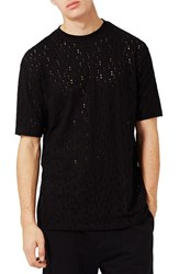 Topman Men's Ripped Oversize T Shirt