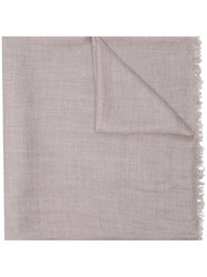 Faliero Sarti Frayed Scarf Nude And Neutrals
