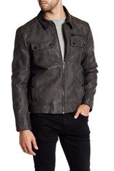 Kenneth Cole Faux Leather Jacket Gray