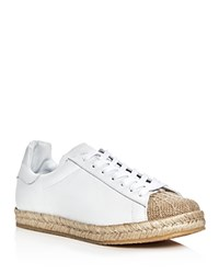 Alexander Wang Rian Espadrille Lace Up Sneakers Optic White