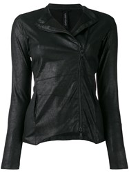 Giorgio Brato Fitted Leather Jacket Black