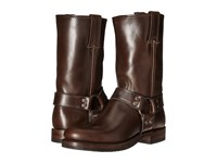 Frye John Addison Harness Dark Brown Smooth Pull Up Leather Men's Boots