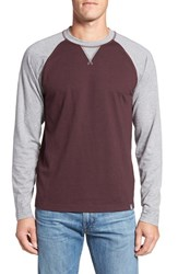 The North Face Men's 'Copperwood' Raglan Crewneck Shirt Root Brown Heather Zinc Grey