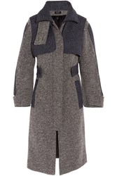 Atlein Two Tone Wool Blend Tweed Coat Anthracite