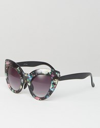 Jeepers Peepers Floral Cat Eye Sunglasses Multi Floral