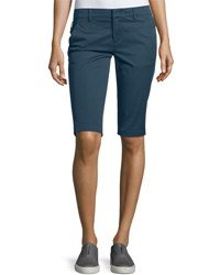 Vince Side Buckle Bermuda Shorts Slate Blue