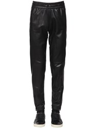 Saint Laurent Nappa Leather Track Pants Black