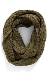 Lulu Junior Women's Cable Knit Infinity Scarf Olive