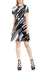 Vince Camuto Women's 'Graphic Wave' Print Fit And Flare Dress