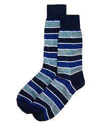 Bloomingdale's The Men's Store At Rugby Stripes Socks 100 Exclusive Blue Multi