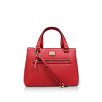 Anne Klein Vanity Satchel Red