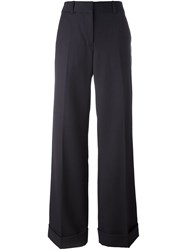 3.1 Phillip Lim Flared Trousers Blue