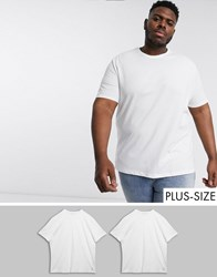 Tom Tailor Plus 2 Pack T Shirt White