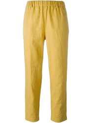 Forte Forte Casual Cropped Trousers Yellow And Orange