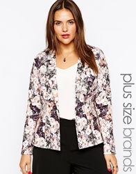 Lipstick Boutique Plus Tailored Floral Kimono Jacket Multi