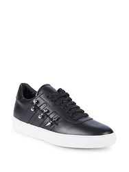 John Galliano Studded Leather Low Top Sneakers Black