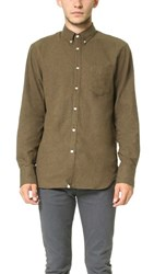 Rag And Bone Standard Issue Lightweight Flannel Shirt Olive