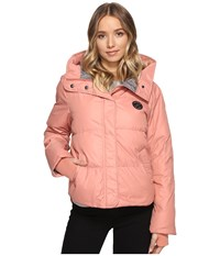 Converse Core Mid Length Puffer Jacket Pink Blush Women's Coat