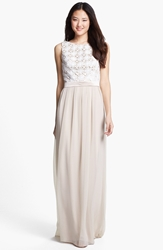 Lela Rose Bridesmaid Lace And Chiffon Dress Online Only Palomino