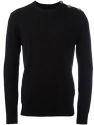 Hydrogen Crew Neck Jumper Black