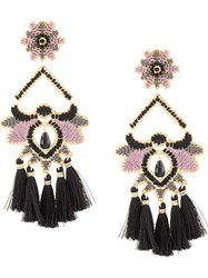 Mercedes Salazar Flor Del Paramo Earrings Black