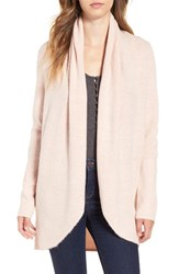 Leith Women's Cocoon Knit Cardigan Pink Tan Heather