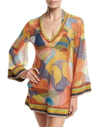 Missoni Paisley Bell Sleeve Tunic Coverup Multi