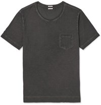 Massimo Alba Panarea Garment Dyed Cotton Jersey T Shirt Black