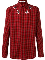 Givenchy Checked Star Shirt Red