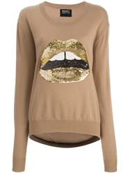 Markus Lupfer 'Gold Lips' Sweater Brown
