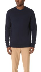 Sunspel Crew Neck Sweater Navy