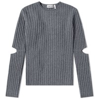 Helmut Lang 1997 Re Edition Elbow Cut Out Sweater Grey