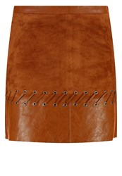 Morgan Junak Mini Skirt Cognac
