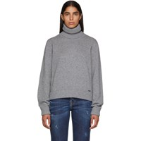 Dsquared2 Grey Wool And Cashmere Sweater