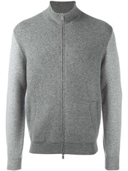 Brunello Cucinelli High Neck Zipped Sweatshirt Grey