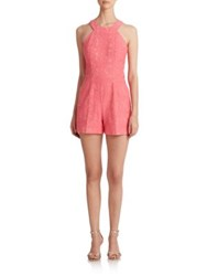 Trina Turk Patterned Organza Short Jumpsuit Candy