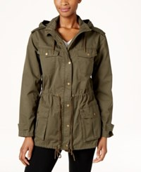 G.H. Bass And Co. Cotton Hooded Utility Jacket Olive