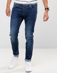 Firetrap Skinny Jeans In Dark Wash Denim Blue