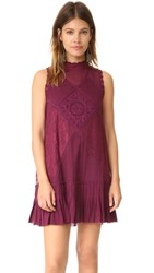Free People Angel Lace Dress Wine